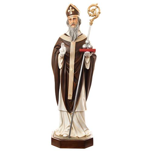 Estatua San Nicolás de Bari 170 cm fibra de vidrio pintada PARA EXTERIOR 1
