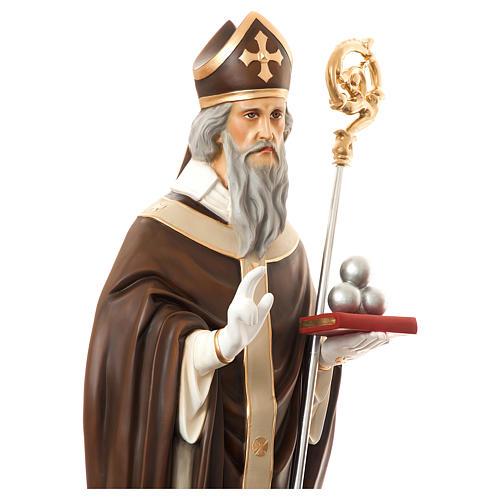 Estatua San Nicolás de Bari 170 cm fibra de vidrio pintada PARA EXTERIOR 2