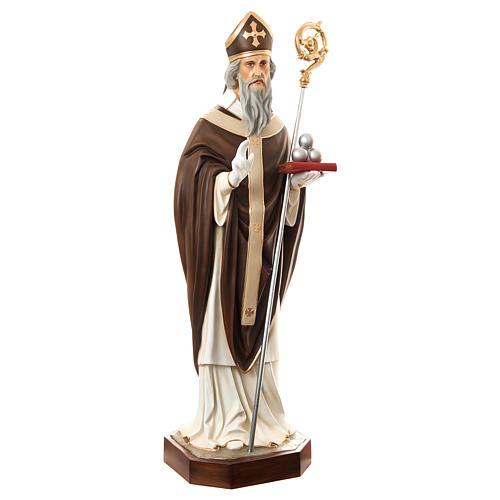 Estatua San Nicolás de Bari 170 cm fibra de vidrio pintada PARA EXTERIOR 4