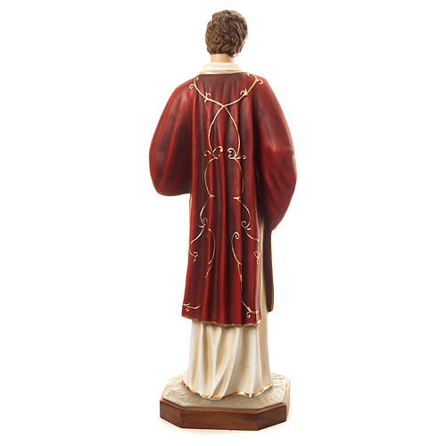 Statue of St. Stephen in coloured fibreglass 110 cm for EXTERNAL USE 5