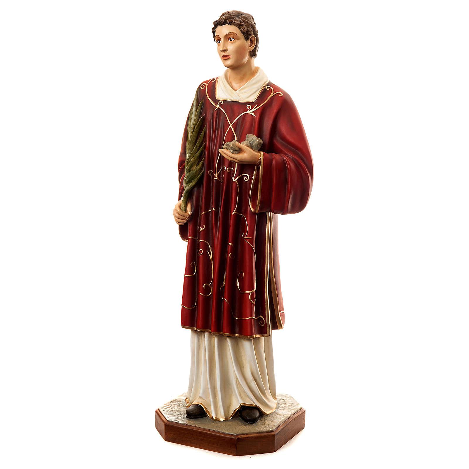 Estatua Santo Esteban 110 cm fibra de vidrio pintada PARA EXTERIOR 4