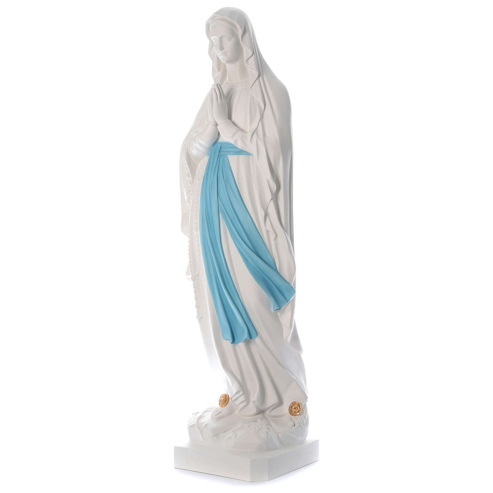 Statua Madonna di Lourdes 160 cm fiberglass colori originali PER ESTERNO 4