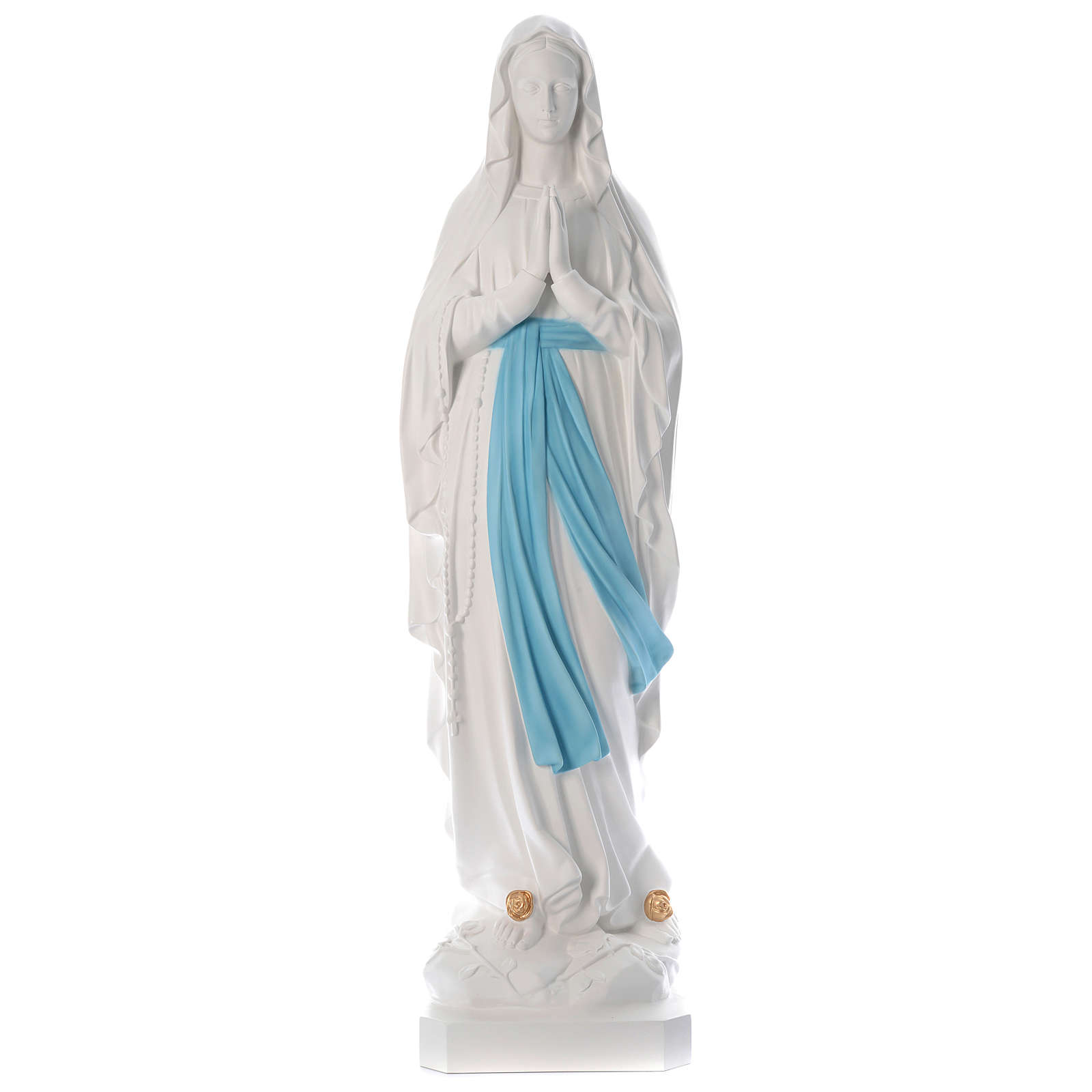 Our Lady of Lourdes Statue, 160 cm, in white fiberglass, FOR OUTDOORS 4