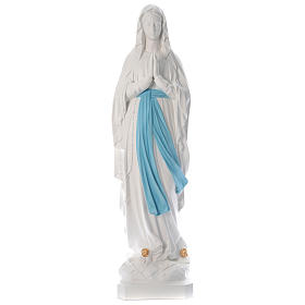 Our Lady of Lourdes Statue, 160 cm, in white fiberglass, FOR OUTDOORS s1
