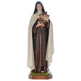 Estatua Santa Teresa cm 150 fibra de vidrio coloreada PARA EXTERIOR s1