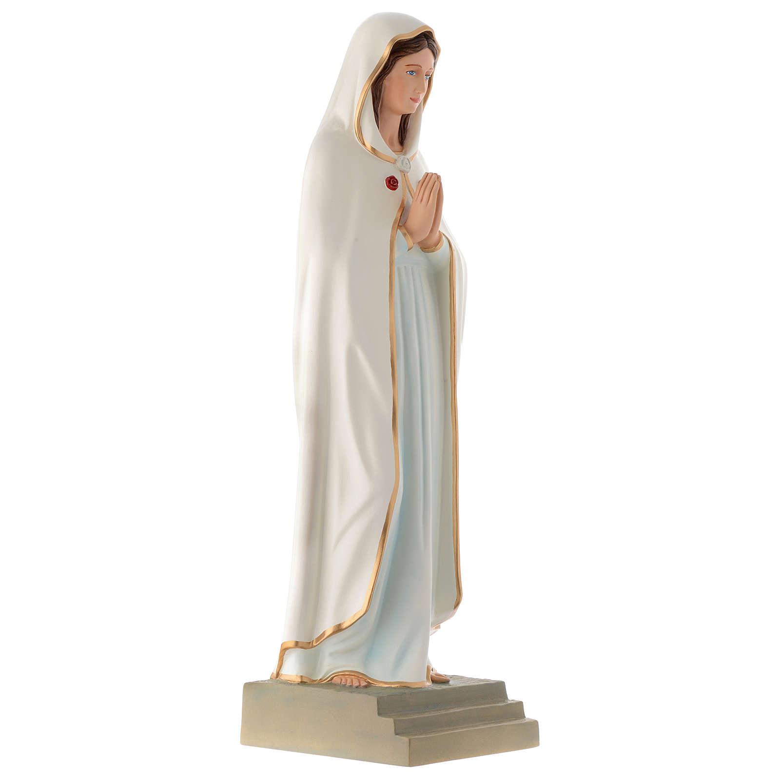 Estatua Virgen de la Rosa Mística 70 cm fibra de vidrio PARA EXTERIOR 4