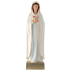Estatua Virgen de la Rosa Mística 70 cm fibra de vidrio PARA EXTERIOR s1