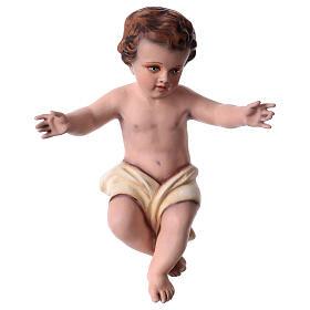 Enfant Jésus 30 cm fibre de verre colorée POUR EXTÉRIEUR s6