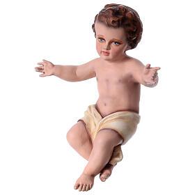 Enfant Jésus 30 cm fibre de verre colorée POUR EXTÉRIEUR s8