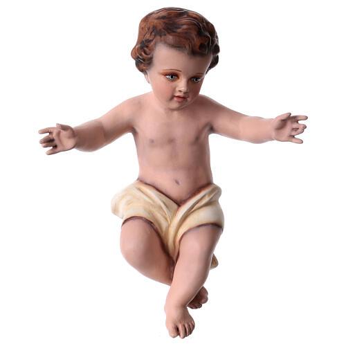 Enfant Jésus 30 cm fibre de verre colorée POUR EXTÉRIEUR 6