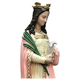 Statua Santa Agnese con agnello e palma 110 cm vetroresina s2