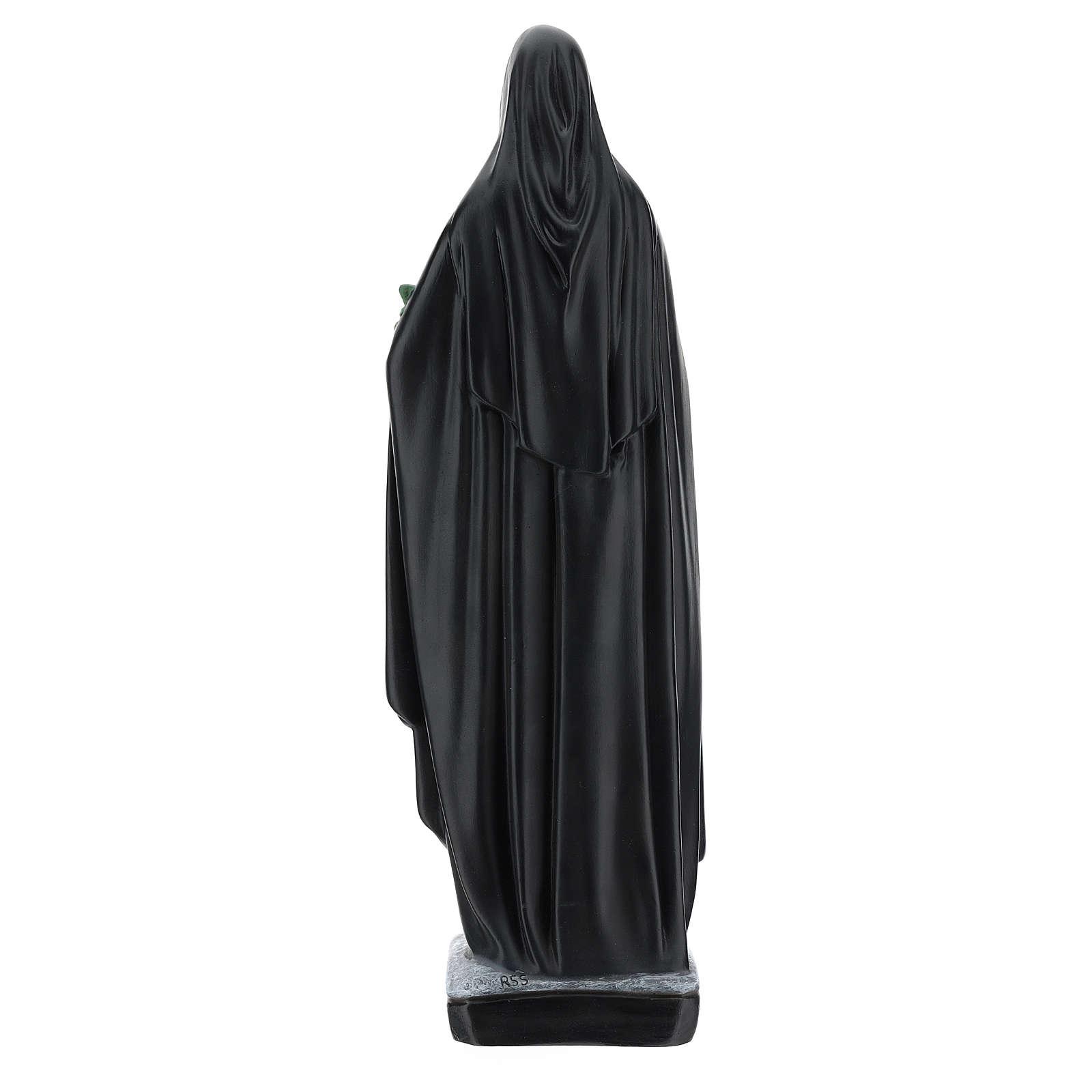 Statue Sainte Catherine de Sienne 40 cm résine bouquet de fleurs 4