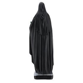 Statue Sainte Catherine de Sienne 40 cm résine bouquet de fleurs s5