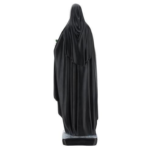 Statua Santa Caterina da Siena 40 cm resina mazzo di fiori e libro 5