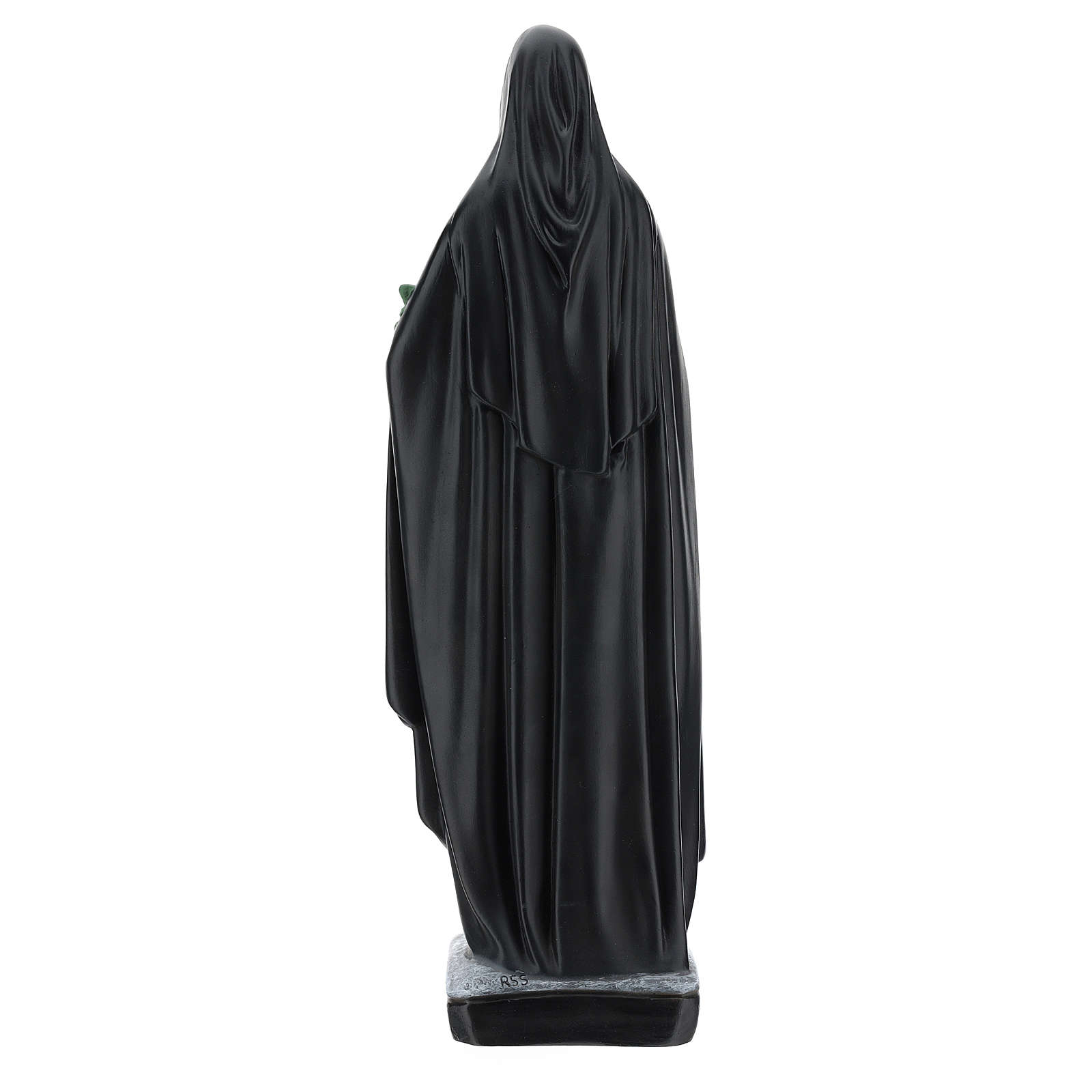 Saint Catherine of Siena statue with flowers and book, 40 cm resin 4