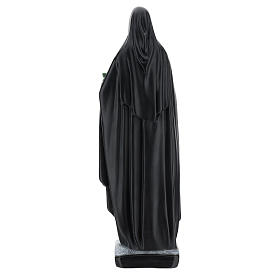 Saint Catherine of Siena statue with flowers and book, 40 cm resin s5