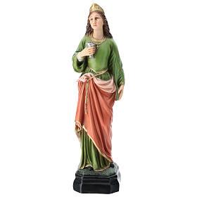 Statua Santa Lucia resina 30 cm resina colorata s1
