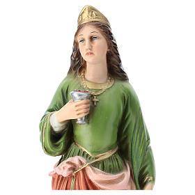 Statua Santa Lucia resina 30 cm resina colorata s2