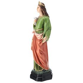 Statua Santa Lucia resina 30 cm resina colorata s3