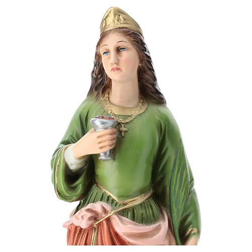 Statua Santa Lucia resina 30 cm resina colorata 2