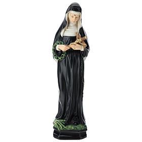 Statue Sainte Rita 30 cm résine colorée s1