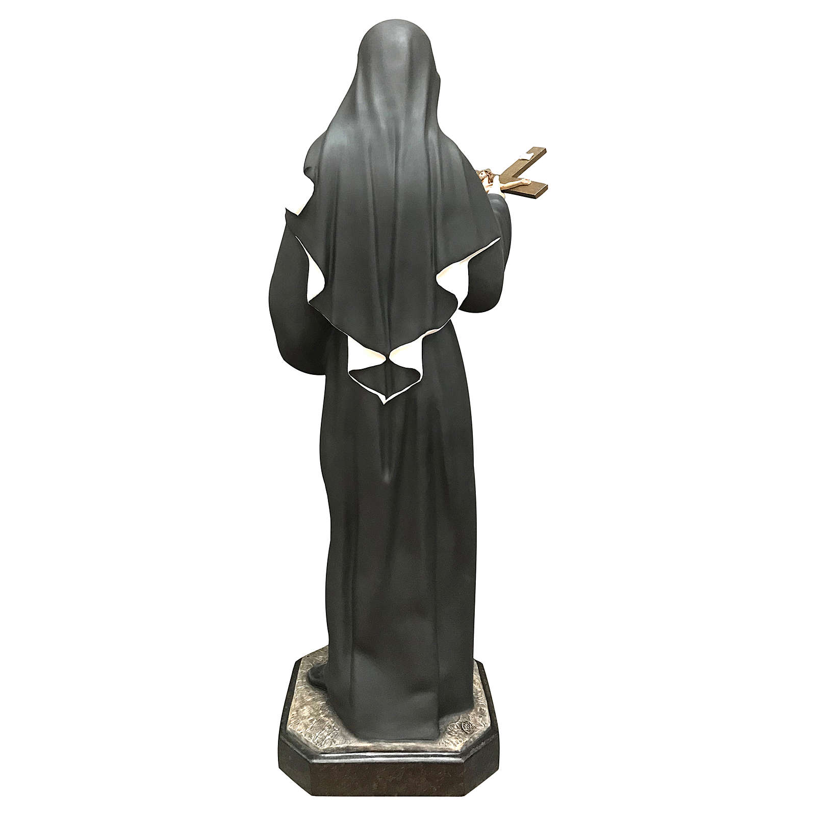Statua Santa Rita resina 30 cm colorata 4
