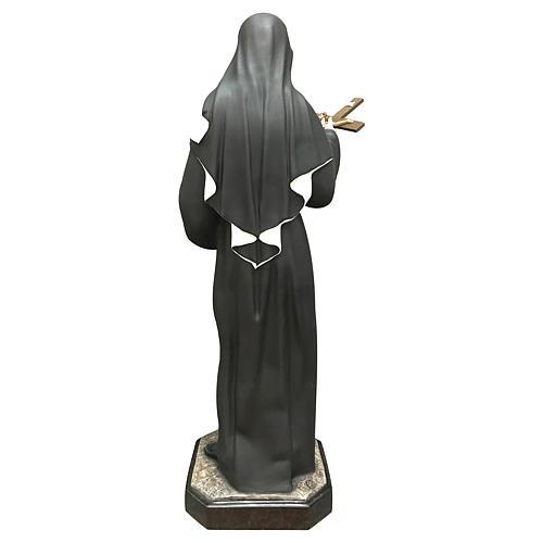 Statua Santa Rita resina 30 cm colorata 5