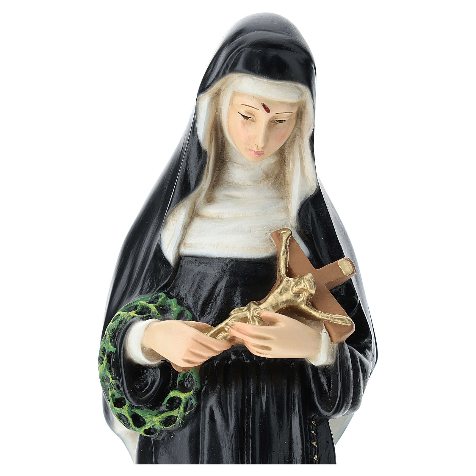Saint Rita statue, 30 cm colored resin 4