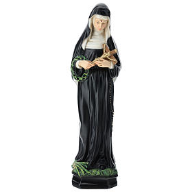 Saint Rita statue, 30 cm colored resin s1