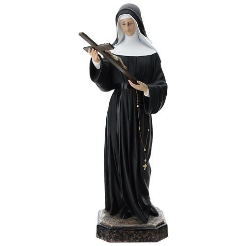 Estatua Santa Rita fibra de vidro 130 cm coloreada