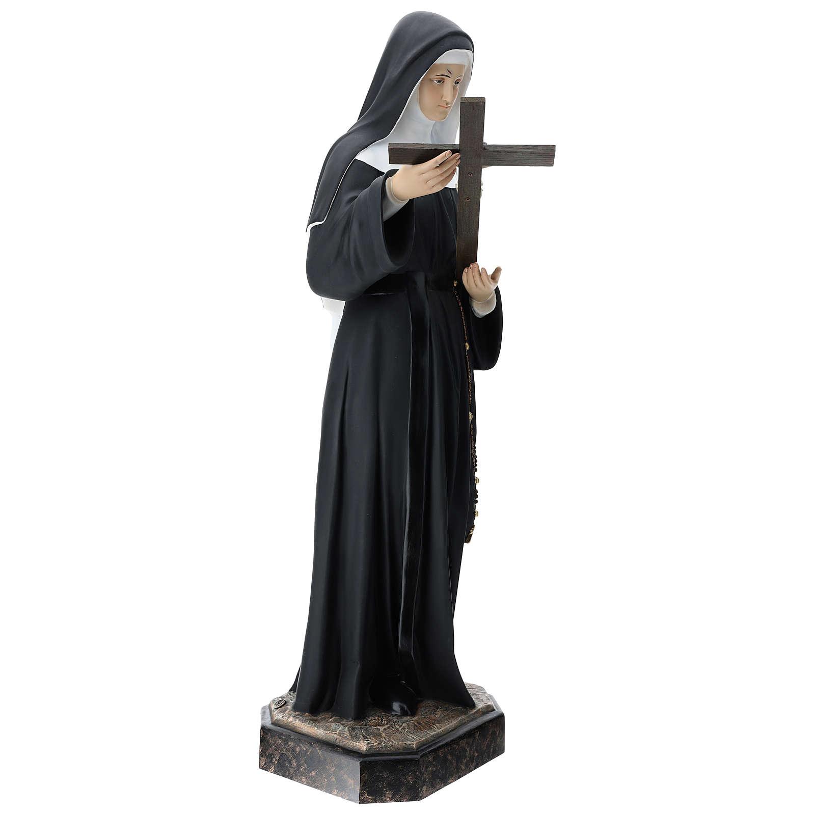 Statua Santa Rita vetroresina 130 cm colorata 4
