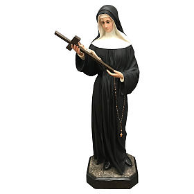 Statua Santa Rita vetroresina 130 cm colorata s1