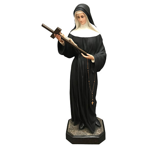 Statua Santa Rita vetroresina 130 cm colorata 1