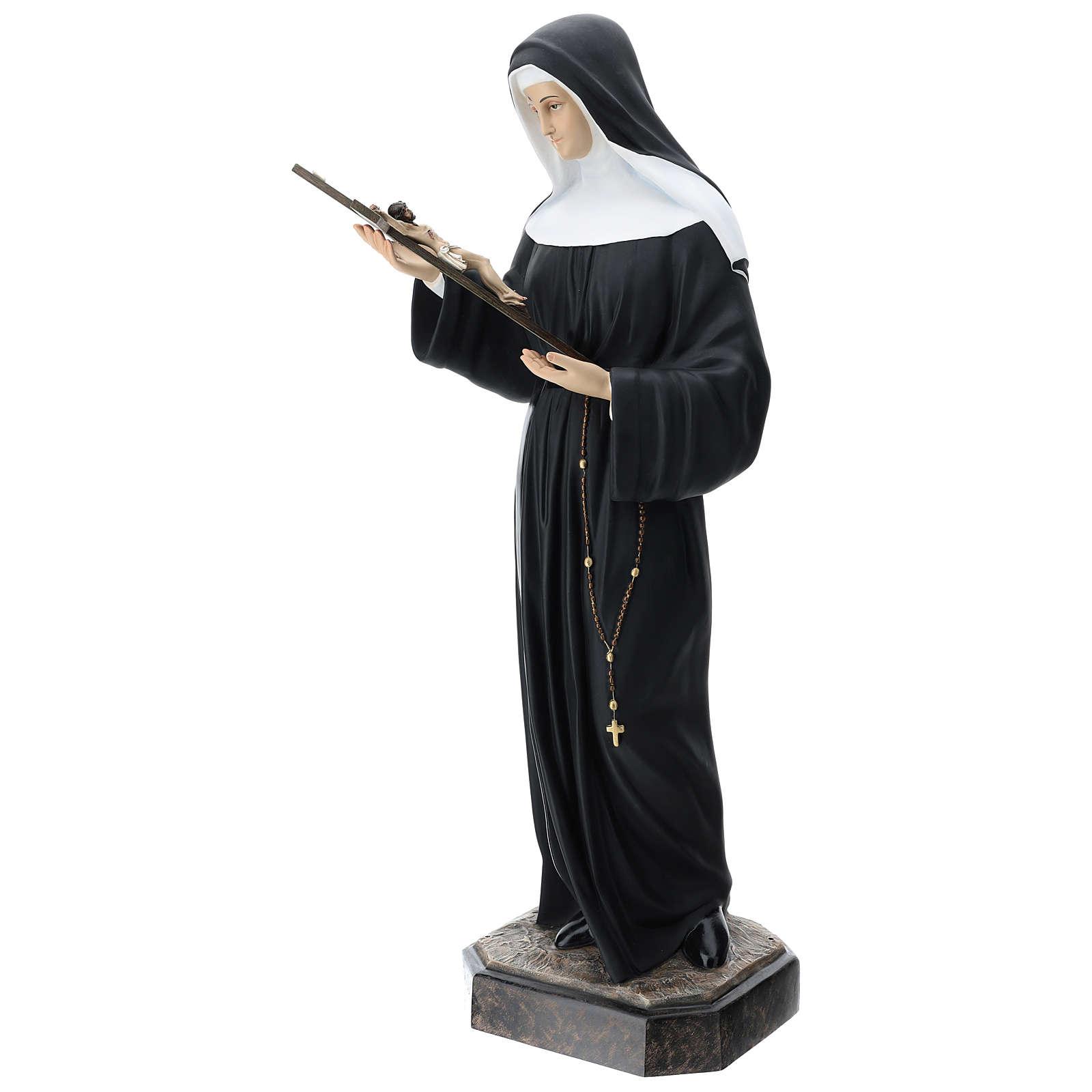 St Rita statue, 130 cm colored fiberglass 4