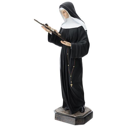 St Rita statue, 130 cm colored fiberglass 5