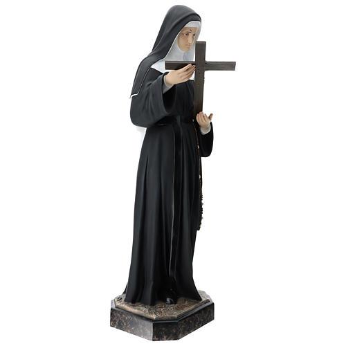 St Rita statue, 130 cm colored fiberglass 7