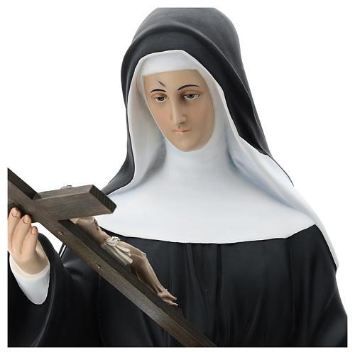 St Rita statue, 130 cm colored fiberglass 8