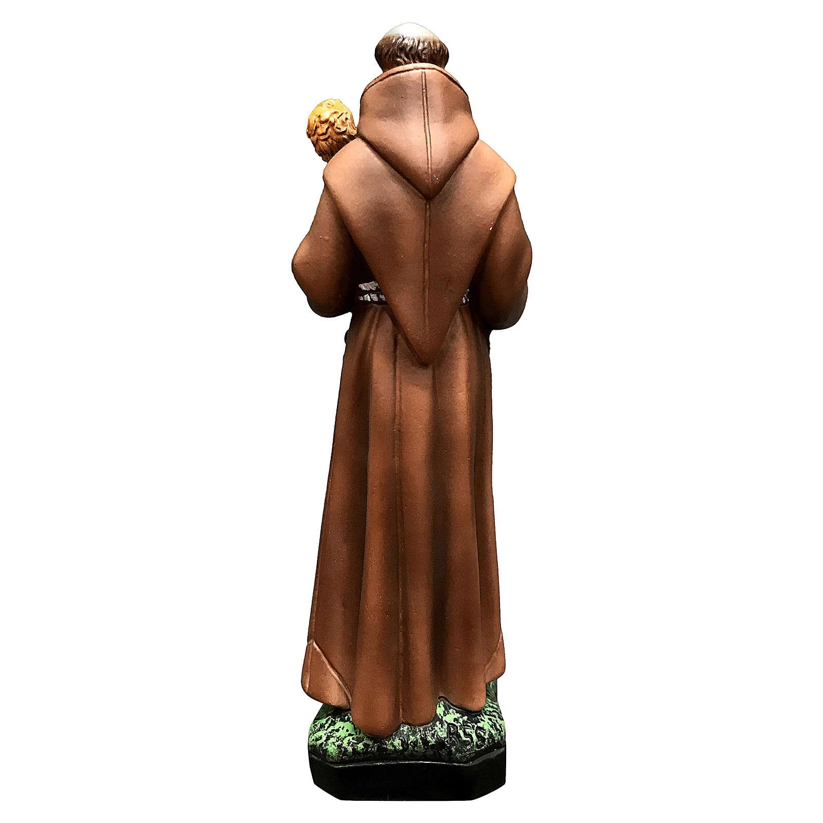 Statue Saint Antoine 25 cm résine colorée 4
