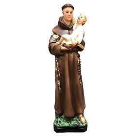 Statue Saint Antoine 25 cm résine colorée s1