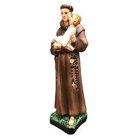 Statue Saint Antoine 25 cm résine colorée s3