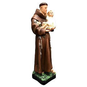 Statue Saint Antoine 25 cm résine colorée s8