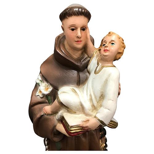 Statue Saint Antoine 25 cm résine colorée 2