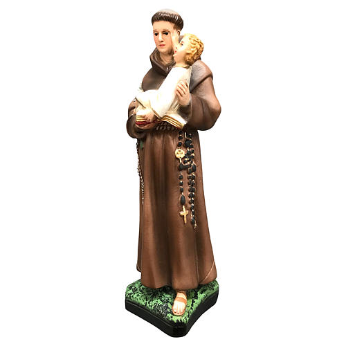 Statue Saint Antoine 25 cm résine colorée 3