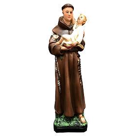 Statua Sant'Antonio 25 cm resina colorata s6