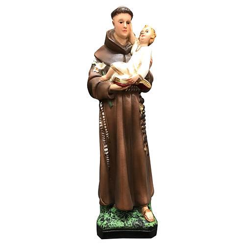 Statua Sant'Antonio 25 cm resina colorata 1