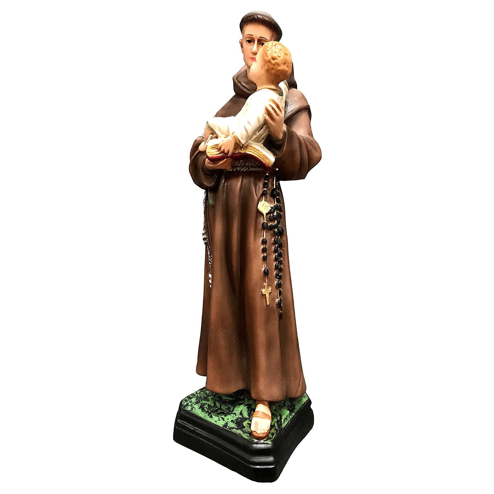 Statue Saint Antoine 40 cm résine colorée 4