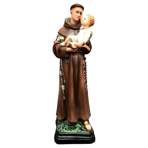 Statua Sant' Antonio 40 cm in resina colorata 1