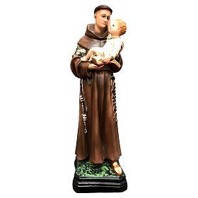 St Anthony of Padua with Child statue, 40 cm colored resin s1