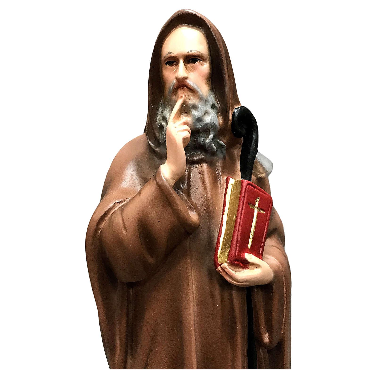Statua Sant' Antonio Abate 30 cm resina colorata 4
