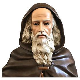 Estatua San Antonio Abad 160 cm fibra de vidrio coloreada